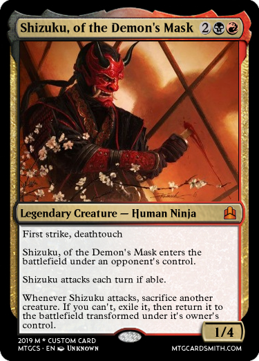 Shizuku, of the Demon's Mask