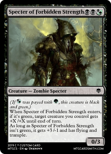 Specter of Forbidden Strength