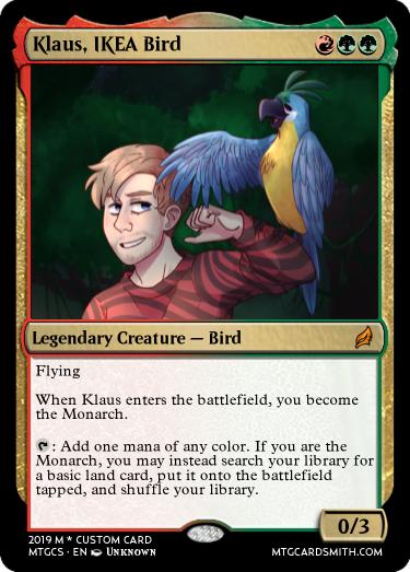 Klaus, IKEA Bird by LordFaron269 | MTG Cardsmith