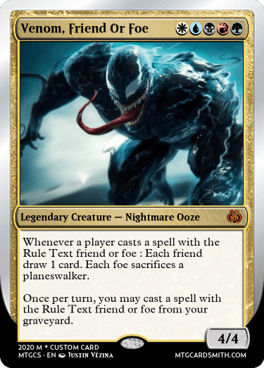Venom, Friend Or Foe