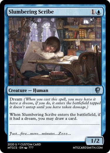 Slumbering Scribe
