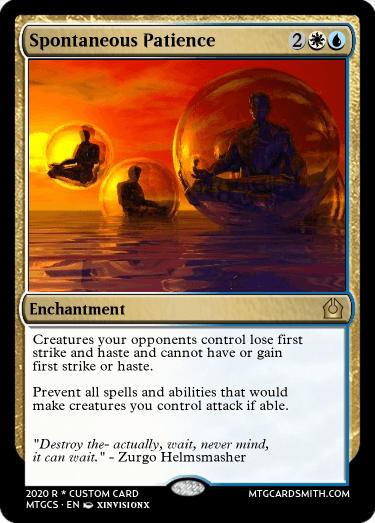 Spontaneous Patience