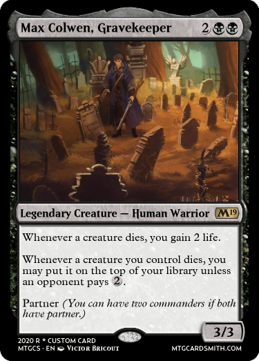 Max Colwen Gravekeeper