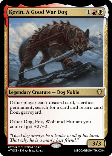 Kevin A Good War Dog
