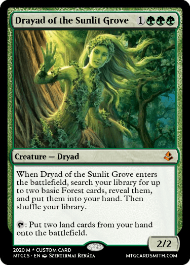Drayad of the Sunlit Grove