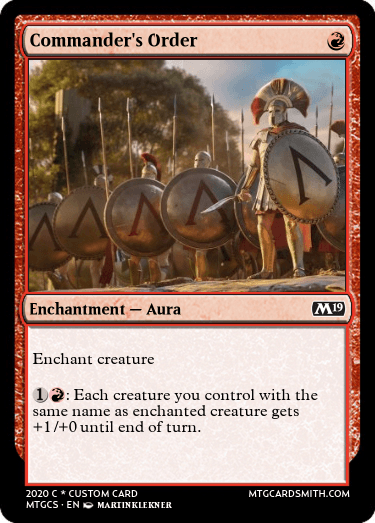 Commanders Order