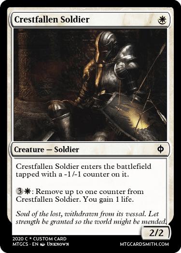 Crestfallen Soldier
