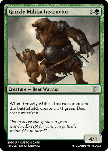 Grizzly Militia Instructor