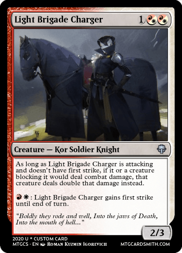 Light Brigade Charger