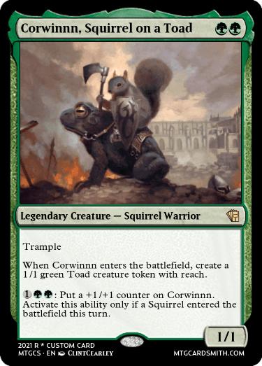 Corwinnn Squirrel on a Toad