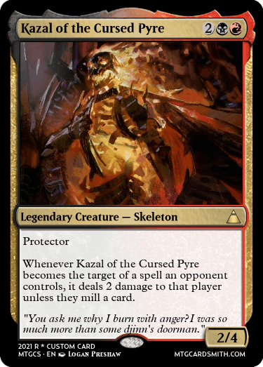 Kazal of the Cursed Pyre