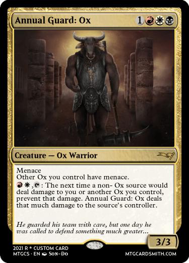 Annual Guard Ox