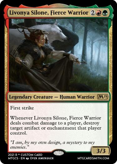 Livonya Silone Fierce Warrior