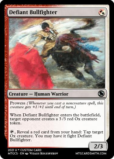 Defiant Bullfighter