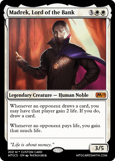 Madrek, Lord of the Bank