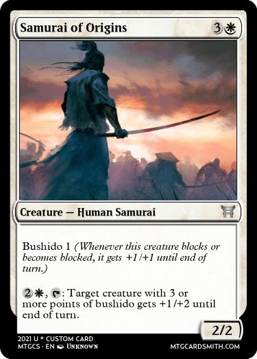 Samurai of Origins