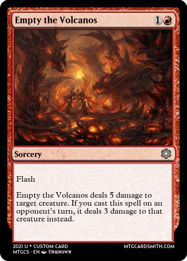 Empty the Volcanos