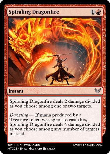 Spiraling Dragonfire