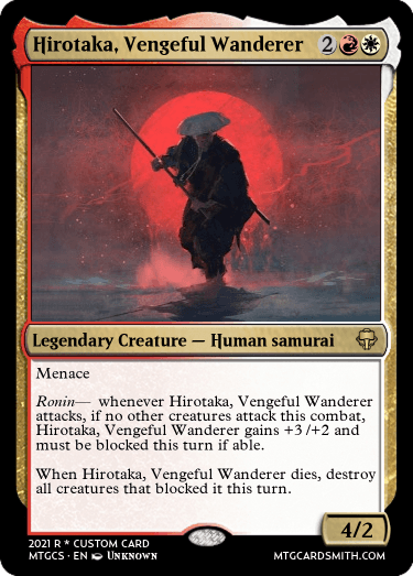 Hirotaka Vengeful Wanderer