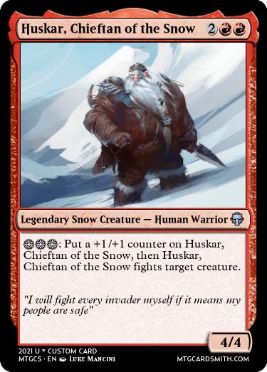 Huskar Chieftan of the Snow