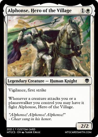 Alphonse Hero of the Village