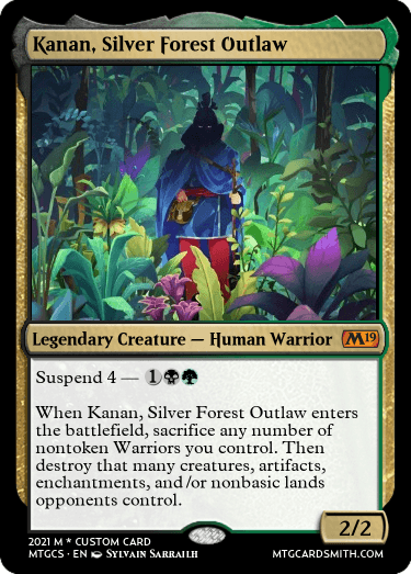 Kanan Silver Forest Outlaw