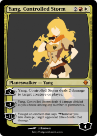 Yang, Controlled Storm