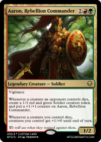 Aaron, Rebellion Commander
