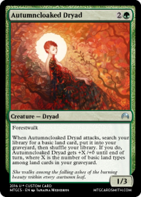 Autumncloaked Dryad