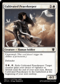 Cultivated Peacekeeper