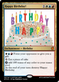 Mtg cardsmith a magic the gathering custom card maker happy birthday bookmarktalkfo Image collections