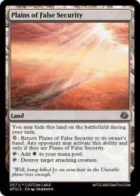 Plains of False Security