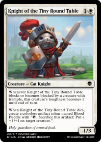 Knight of the Tiny Round Table