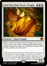 Gold Star Fruit Faerie Dragon