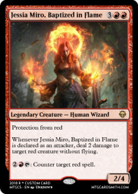 Jessia Miro, Baptized in Flame