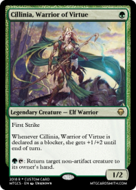 Cillinia, Warrior of Virtue
