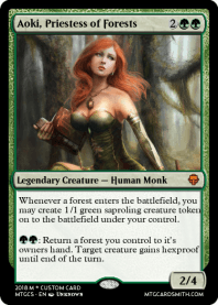 Aoki, Priestess of Forests