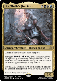Lily, Thalia's First Born