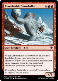Abominable Snowballer