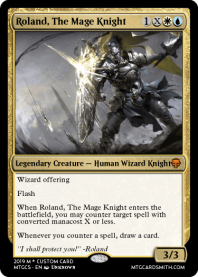 Roland, The Mage Knight