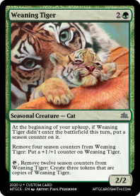 Weaning Tiger
