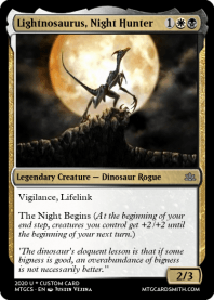 Lightnosaurus, Night Hunter