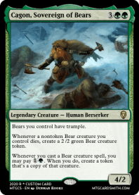 Cagon, Sovereign of Bears