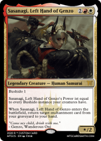 Sasanagi, Left Hand of Genzo