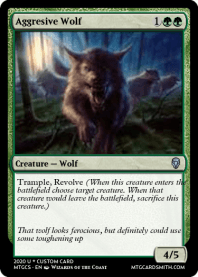Aggresive Wolf