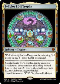 5-Color EDH Trophy