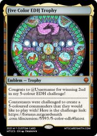 Five Color EDH Trophy